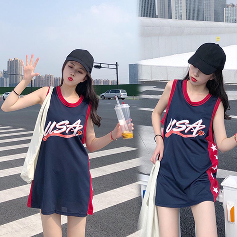 【韓國K.W.】純淨簡約青春可愛背心洋裝