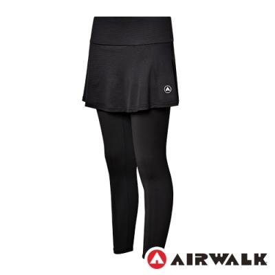 【AIRWALK】韻律裙合身褲-女-黑