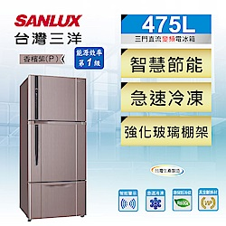 SANLUX台灣三洋 475L 1級變頻3門電冰箱 SR-