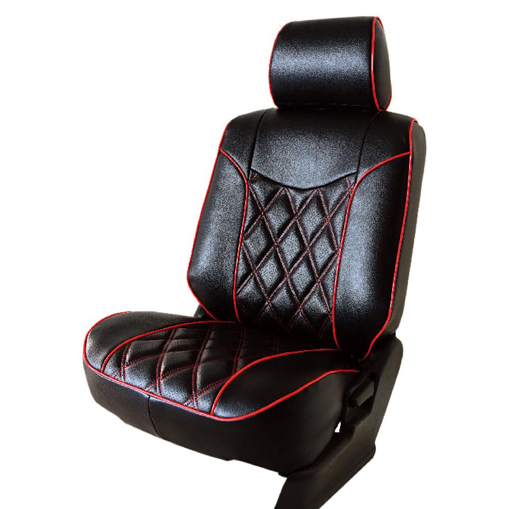 【葵花】量身訂做-汽車椅套-日式合成皮-格紋配色F-露營車款-雙前座-第一排2人座