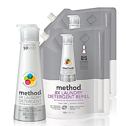 Method 美則八倍濃縮智慧洗衣精-無香料3件組