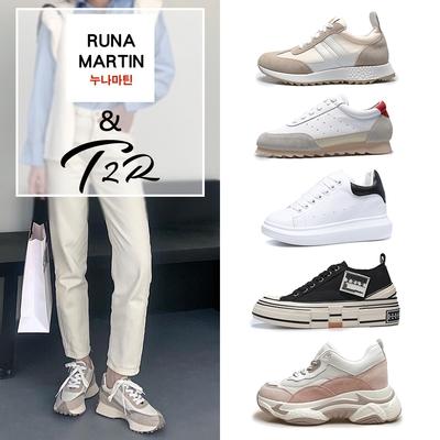 時時樂限定-T2R&RUNA-正韓來台-撞色拼接百搭休閒鞋-多款多色