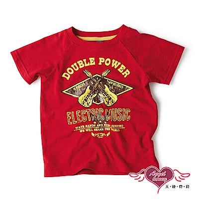 【天使霓裳-童裝】音樂旅行 兒童休閒短袖T恤上衣(紅)