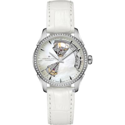 HAMILTON 爵士系列 OPEN HEART LADY機械女錶(H32205890)36mm