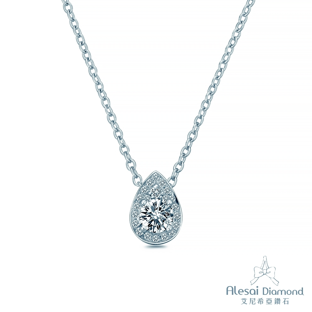 Alesai 艾尼希亞鑽石 30分 14K 水滴鑽石項鍊