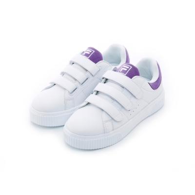 FILA 女性潮流復古鞋-白/紫 5-C601T-900