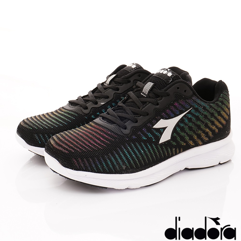 DIADORA-動能乳膠炫彩跑鞋款 FI993黑(女段)