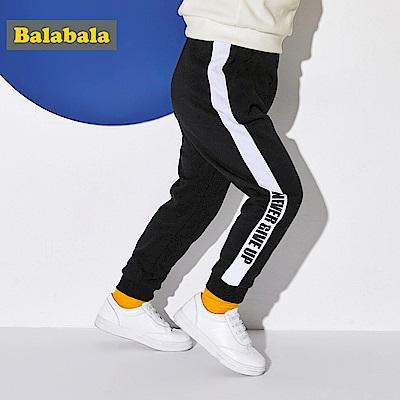 Balabala巴拉巴拉-側邊標語線條休閒棉褲-男(3色)