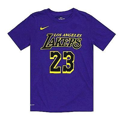 NIKE 青少年 DRI-FIT短袖T恤 城市版 湖人隊 LeBron James