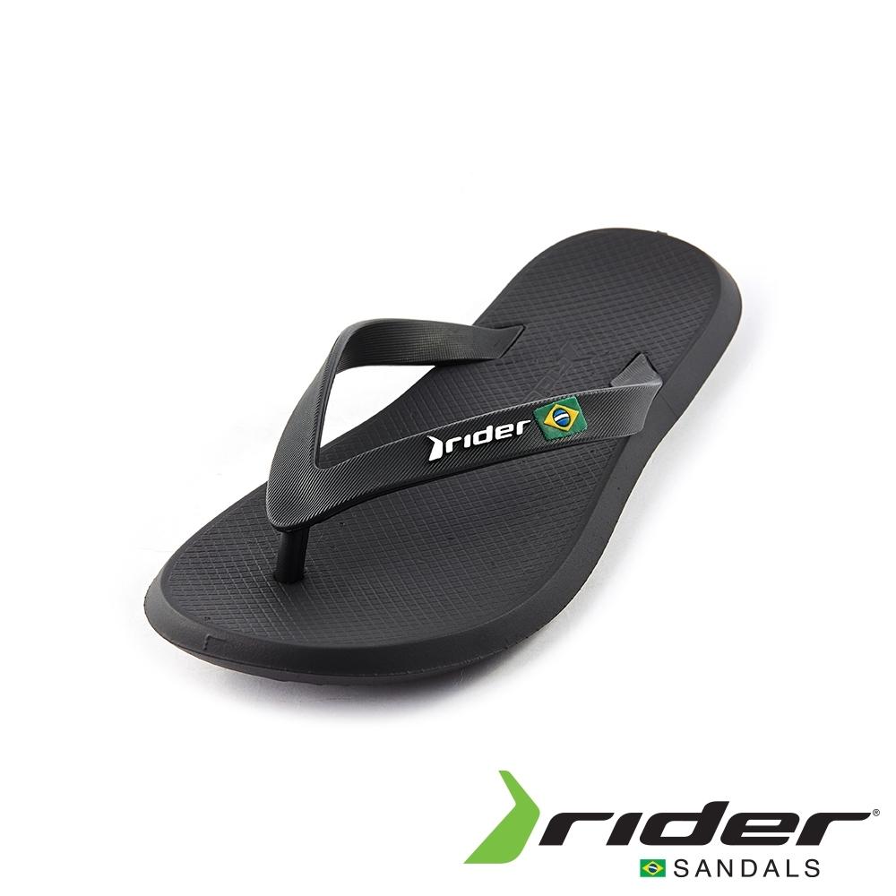Rider 休閒舒適人字夾腳拖鞋(男款)-黑