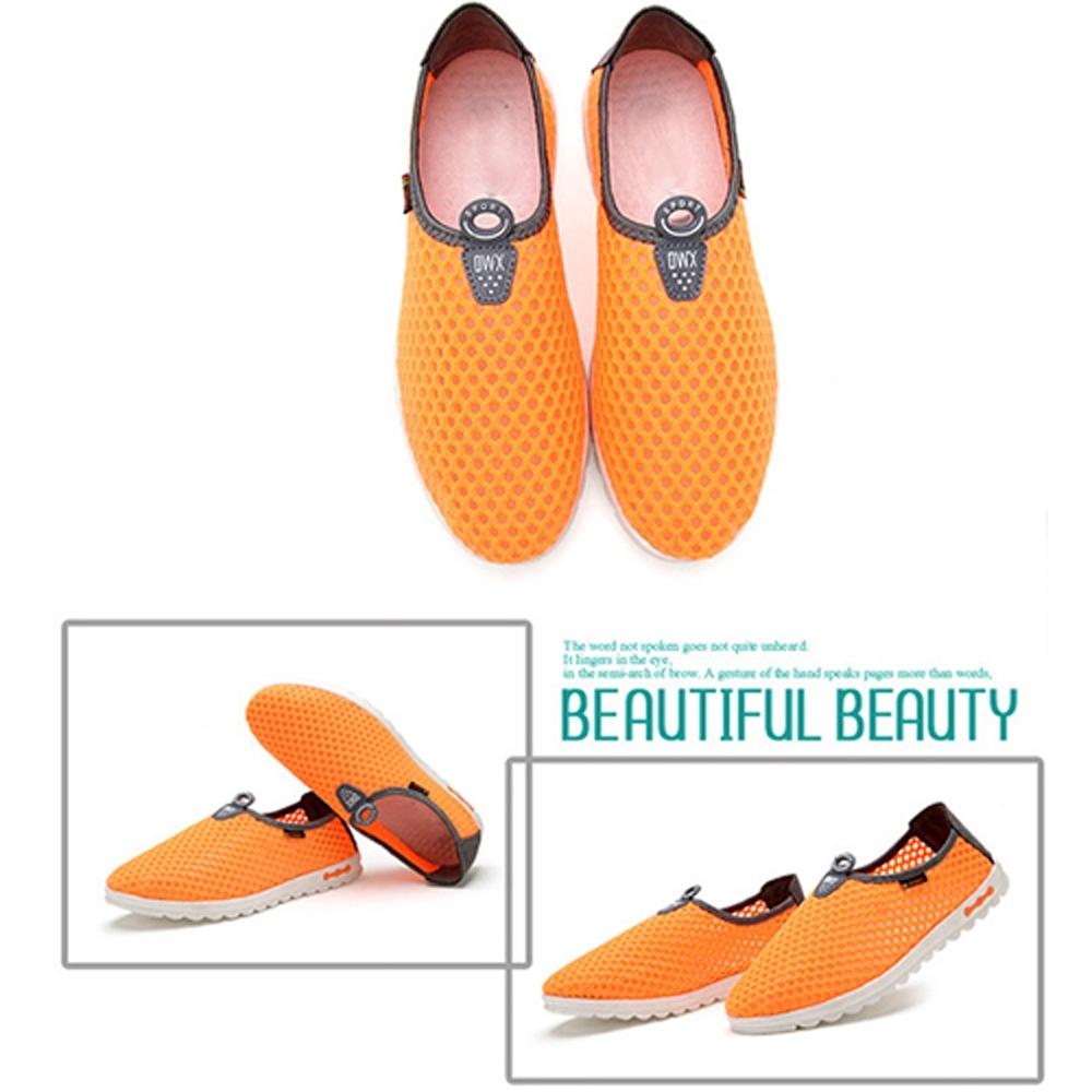 韓國KW美鞋館 (現貨+預購)男女款夏日必備全素運動鞋-橘