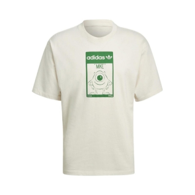adidas T恤 Original Tee Mike 男女款 愛迪達 三葉草 大眼仔 麥克華斯基 淺褐 綠 GP3393
