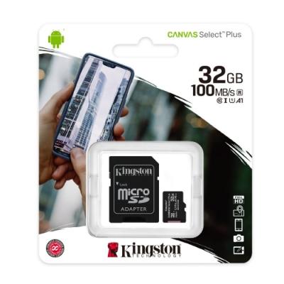 金士頓 KINGSTON SDCS2 MicroSDHC 100MB 32G U1 A1 記憶卡