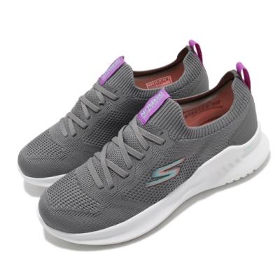 Skechers 慢跑鞋 Go Run Mojo 2 女鞋 健身房 避震 緩衝 輕量 回彈 支撐 灰 白 128145CCLV