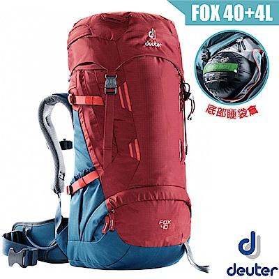 德國 Deuter Fox 40+4L 專業輕量拔熱透氣背包_紅/藍