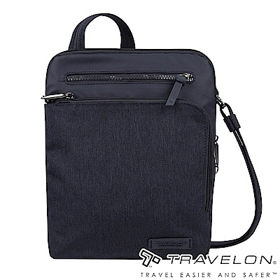 Travelon美國防盜包 METRO商務休閒旅遊斜肩包/側肩包TL-43415深藍