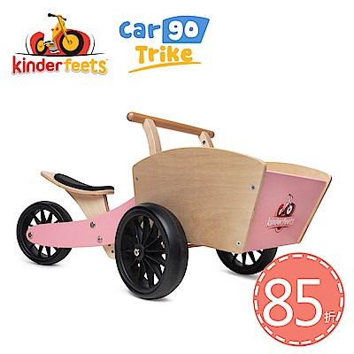 Kinderfeets 美國木製平衡滑步教具車_初心者收藏家系列 (粉精靈)