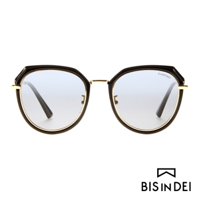 BIS IN DEI 不低調個性圓框太陽眼鏡-黑