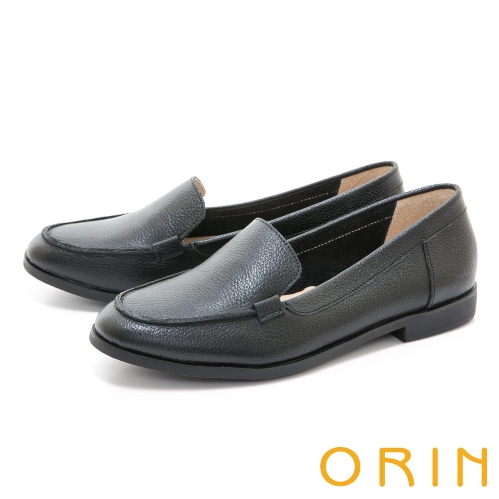 [今日限定] MAGY熱銷平底鞋均價1180 (F.荔枝紋真皮素面樂福平底鞋-黑色)