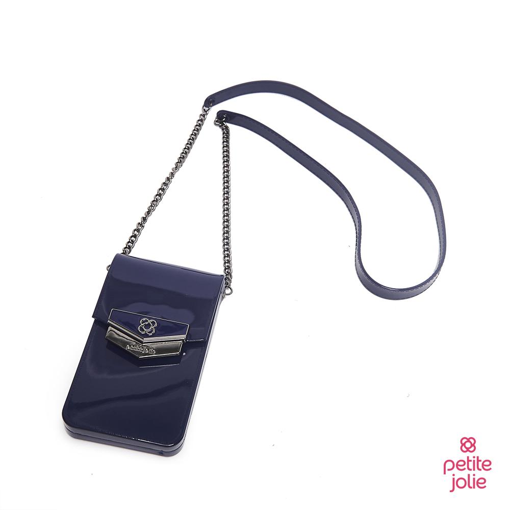 Petite Jolie-盾牌LOGO果凍手機包-藏藍