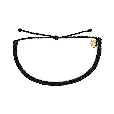 Pura Vida 美國手工Mini Braided Solid 黑色迷你粗線手鍊
