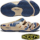 KEEN 1020292土黃/藍迷彩 Yogui Arts 男戶外護趾拖鞋
