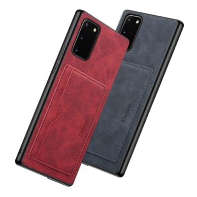 三星 Galaxy Note 20 復古花紋 插卡 皮套 手機殼 暗灰款 (Samsung Note 20手機殼 Note 20保護殼)