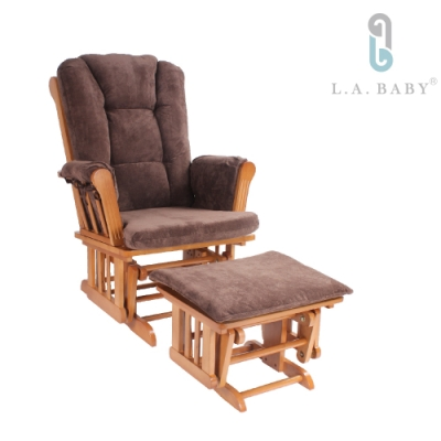 【L.A. Baby】多功能搖椅(咖啡色)