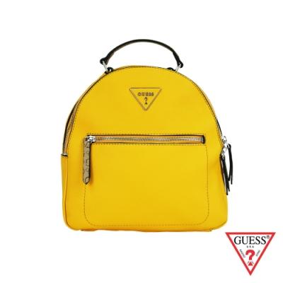 GUESS-女包-經典倒三角logo後背包-黃