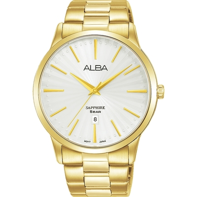 ALBA 雅柏PRESTIGE系列型石英錶-41mm金色(AG8K80X5/VJ32-X319G)