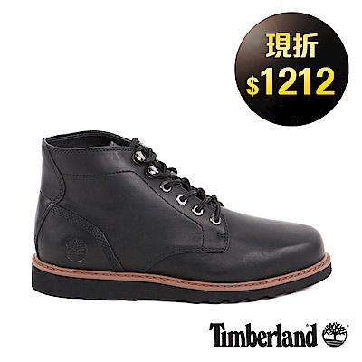 Timberland 男款黑色粒面Newmarket素面休閒鞋