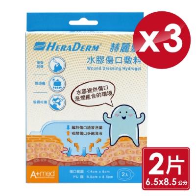赫麗敷 HERADERM 水膠傷口敷料 6.5X8.5cm (2片X3盒)