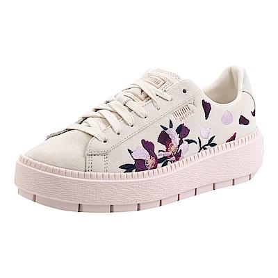 PUMA-SuedePlatformTraceFlowery女性復古休閒鞋