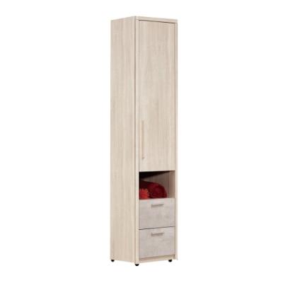 文創集 杜蜜拉 現代1.4尺二抽單吊衣櫃/收納櫃-42.2x60x200cm免組
