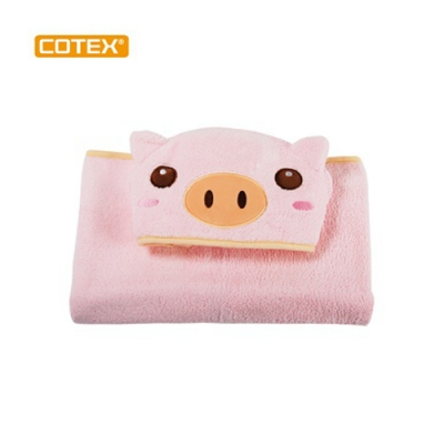 COTEX可透舒 可愛造型浴巾 泰可虎 鵝黃色