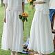 100褶皺苧麻純手工縫線白色長裙-設計所在 product thumbnail 1