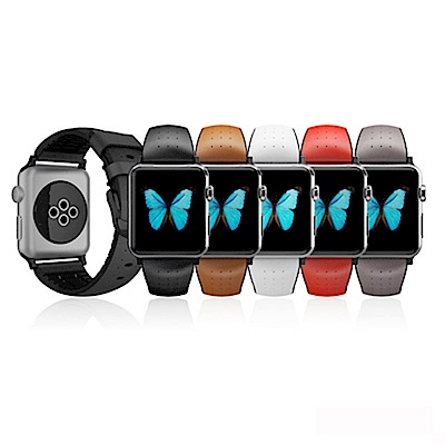 Patchworks Apple Watch 42mm 義大利真皮運動錶帶