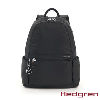 Hedgren INNER CITY輕量側邊收納 後背包 墨黑