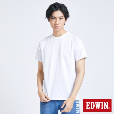 EDWIN EFS涼感迷彩 短袖T恤-男-白色