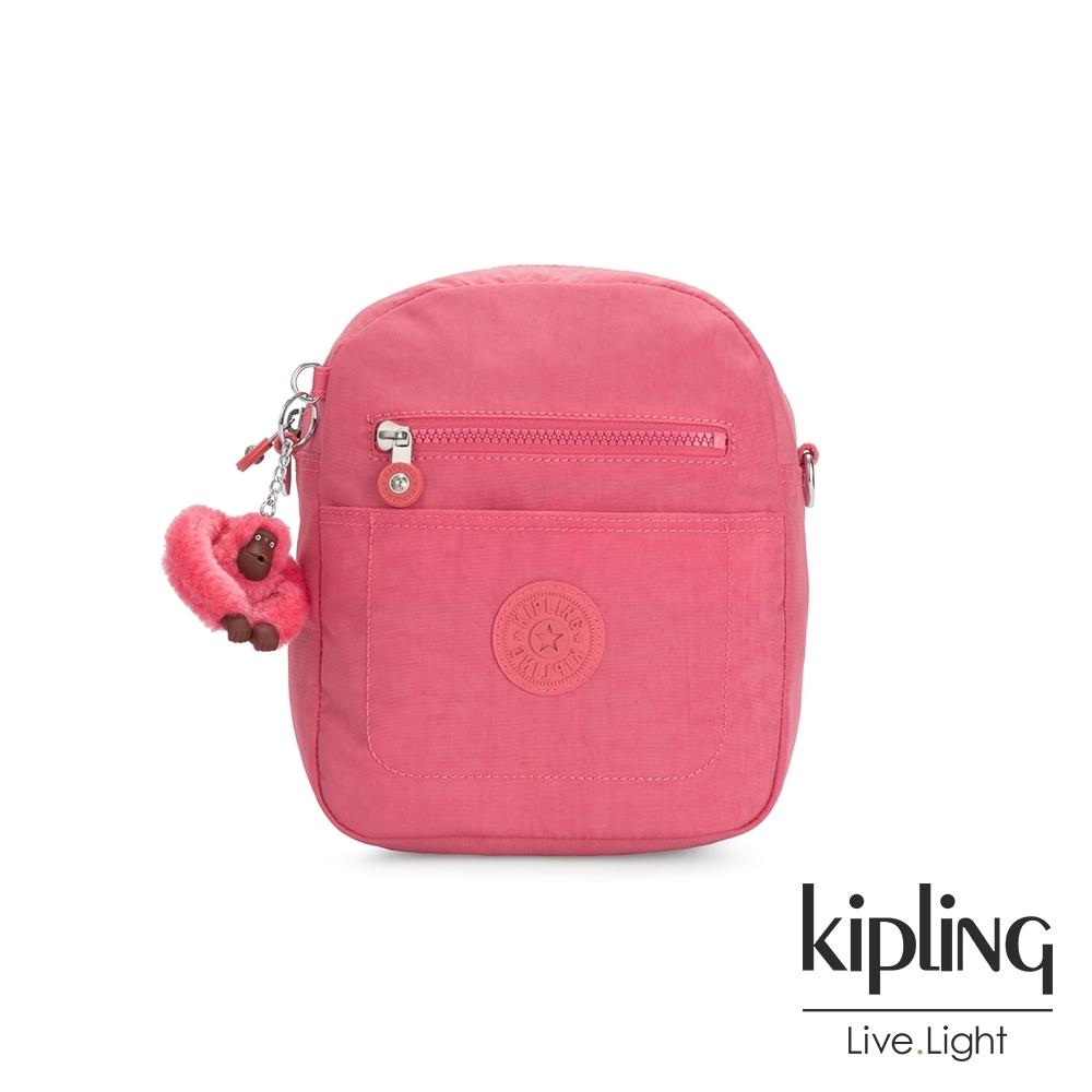 Kipling 甜美俏皮粉隨身兩用後背包-MAXX