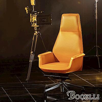BOCELLI-CLASSICO經典風尚高背辦公椅(義大利牛皮)原皮褐