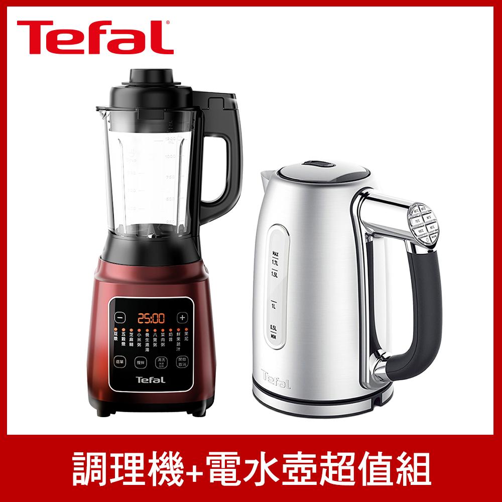 【贈智能溫控電水壺1.7L】Tefal 特福高速熱能營養調理機(寶寶副食品/豆漿機 BL961570)