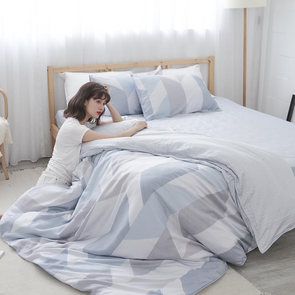 BUHO 100%TENCEL純天絲舖棉兩用被床包組-雙人加大(日光私居)