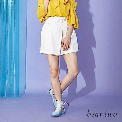 beartwo 一片裙造型俏麗短褲(深咖啡色)