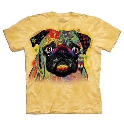 摩達客-美國進口The Mountain 自然純棉 彩繪巴哥 純棉環保短袖T恤