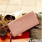 KINAZ 柔軟ㄇ型拉鍊長夾-乾燥玫瑰-永生花系列