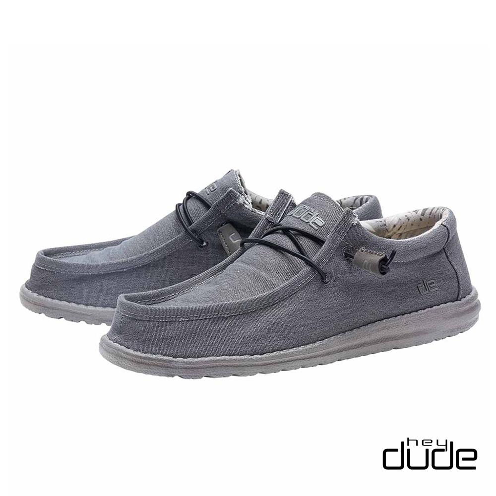 HEY DUDE(男) 四孔透氣棉布輕量休閒鞋  - 泰山灰