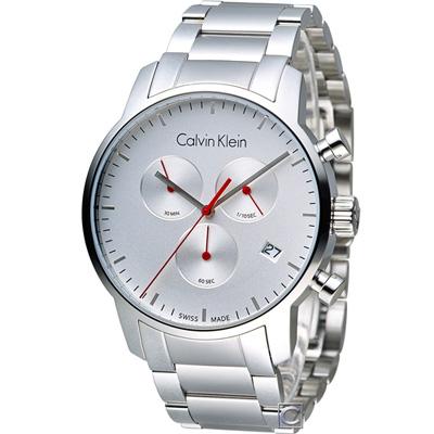 Calvin Klein 城市經典簡約石英計時腕錶(K2G271Z6)43mm