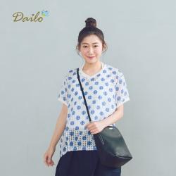【Dailo】清爽點點透膚短袖-襯衫(二色)