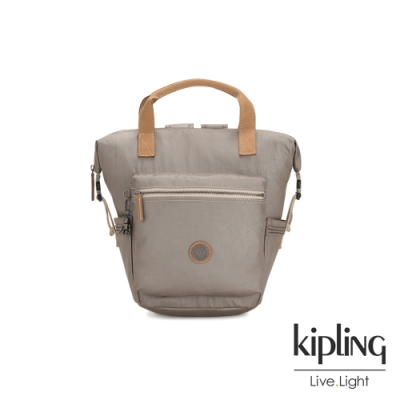 Kipling 邊緣地帶質感霧金雙插扣手提後背兩用包-TSUKI S-EDGELAND系列